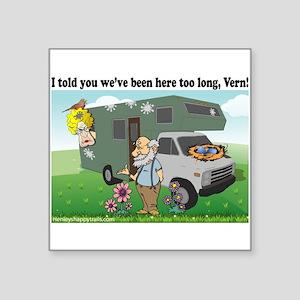 Funny RV bird design Sticker