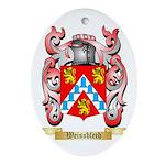Weissblech Oval Ornament