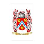 Weissblat Sticker (Rectangle 50 pk)