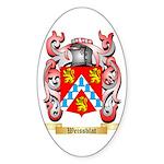 Weissblat Sticker (Oval 50 pk)