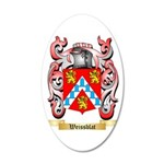 Weissblat 35x21 Oval Wall Decal