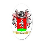 Weiss Oval Car Magnet