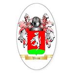 Weiss Sticker (Oval)