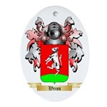 Weiss Oval Ornament