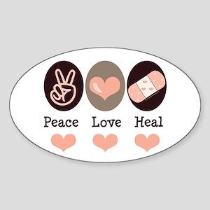 Heal Nurse Doctor Oval Sticker