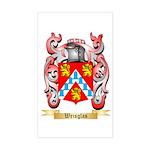 Weisglas Sticker (Rectangle)