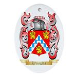 Weisglas Oval Ornament
