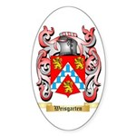 Weisgarten Sticker (Oval)
