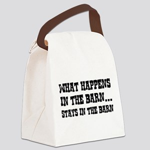 What Happens In The Barn Canvas Lunch Bag