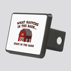What Happens In The Barn Rectangular Hitch Cover