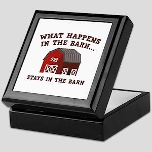 What Happens In The Barn Keepsake Box