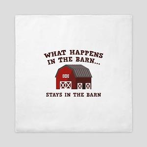 What Happens In The Barn Queen Duvet