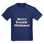 Merry Freakin' Christmas Kids Dark T-Shirt
