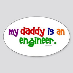 My Daddy Is An Engineer (PRIMARY) Oval Sticker