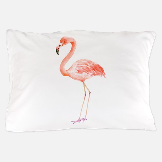 Watercolor Flamingo Pillow Case