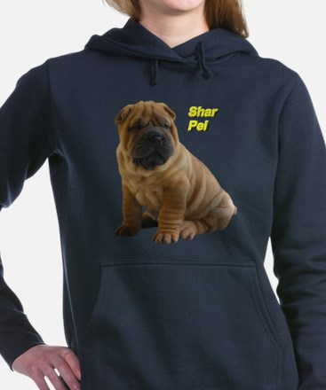 Shar Pei Women's Hooded Sweatshirt