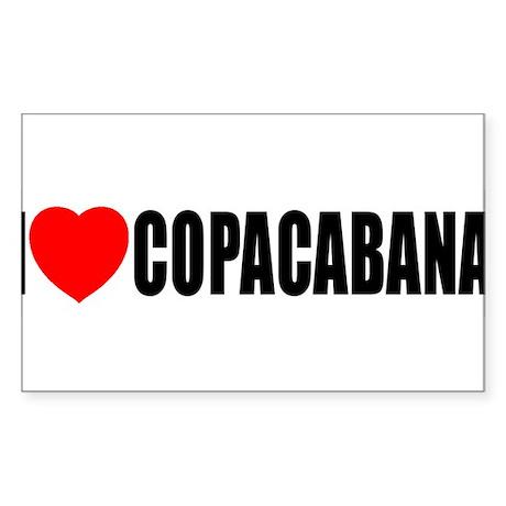 I Love Copacabana Rectangle Sticker
