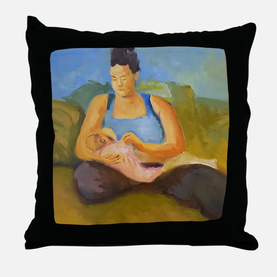 Breastfeeding II Throw Pillow