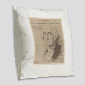 GW with our document Burlap Throw Pillow