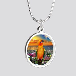 Sun Conure at Sunset Necklaces