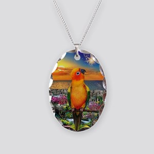Sun Conure at Sunset Necklace