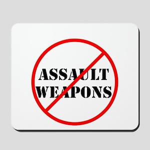 No assault weapons, gun control Mousepad