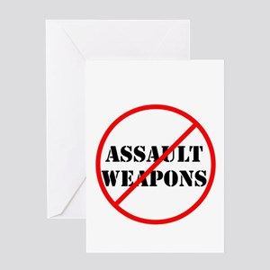 No assault weapons, gun control Greeting Cards