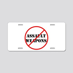 No assault weapons, gun control Aluminum License P
