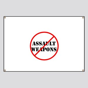 No assault weapons, gun control Banner