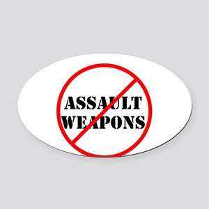 No assault weapons, gun control Oval Car Magnet