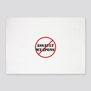 No assault weapons, gun control 5'x7'Area Rug