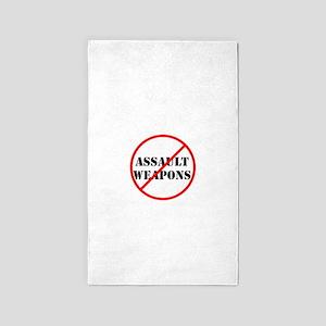 No assault weapons, gun control Area Rug
