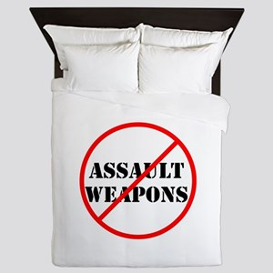 No assault weapons, gun control Queen Duvet