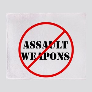 No assault weapons, gun control Throw Blanket