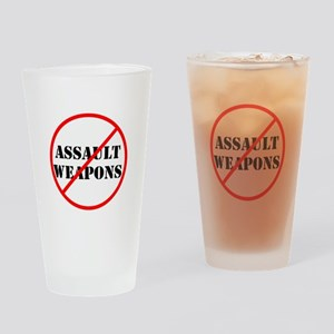 No assault weapons, gun control Drinking Glass