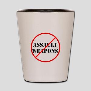 No assault weapons, gun control Shot Glass