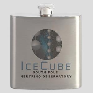 IceCube Observatory Logo Flask