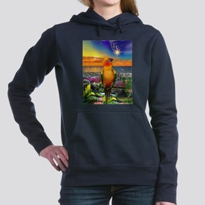 Sun Conure at Sunset Women's Hooded Sweatshirt