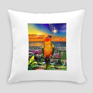 Sun Conure at Sunset Everyday Pillow