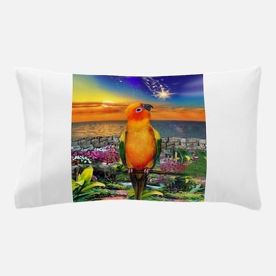 Sun Conure at Sunset Pillow Case