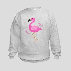 Pink Flamingo Hearts Sweatshirt