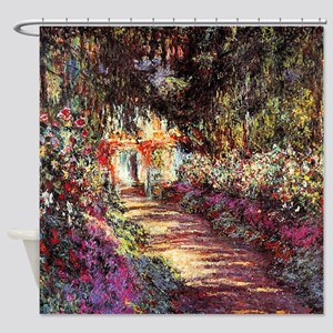 Pathway in the garden at Giverny by Shower Curtain
