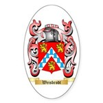 Weisbrodt Sticker (Oval 10 pk)