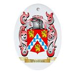 Weisblum Oval Ornament