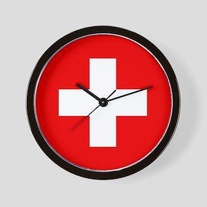 Flag of Switzerland Wall Clock