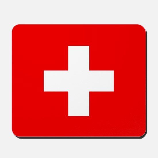 Flag of Switzerland Mousepad