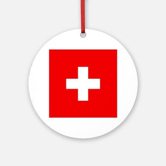 Flag of Switzerland Round Ornament