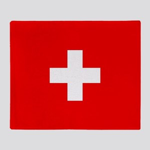 Flag of Switzerland Throw Blanket
