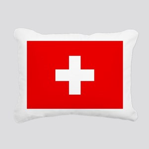 Flag of Switzerland Rectangular Canvas Pillow