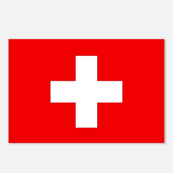 Flag of Switzerland Postcards (Package of 8)
